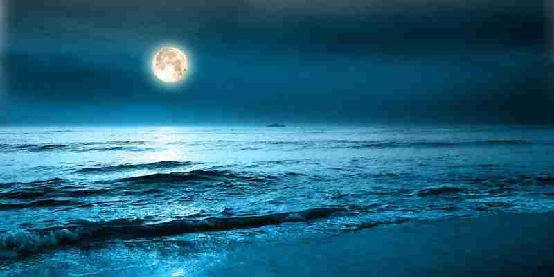 soñar con el mar de noche